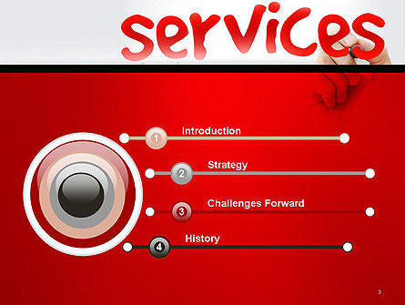Developing a Perfect Services PowerPoint Template Slide 3
