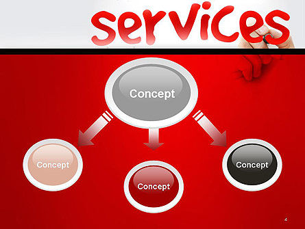 Developing a Perfect Services PowerPoint Template Slide 4