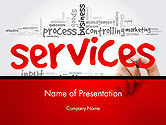 Careers/Industry: Developing a Perfect Services PowerPoint Template #14160