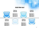 Blue Sky With a Glow Abstract PowerPoint Template#18
