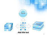 Blue Sky With a Glow Abstract PowerPoint Template#19