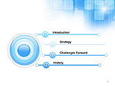 Blue Sky With a Glow Abstract PowerPoint Template#3