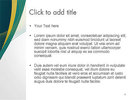 Sinuous Lines PowerPoint Template, Slide 3, 14167, Abstract/Textures — PoweredTemplate.com