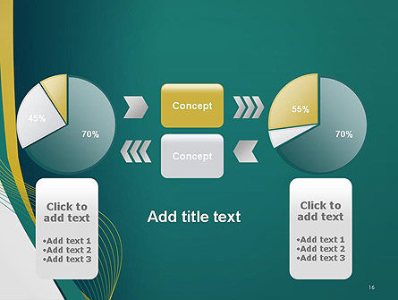 Sinuous Lines PowerPoint Template Slide 16