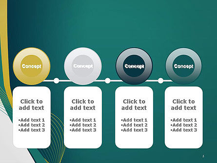 Sinuous Lines PowerPoint Template Slide 5