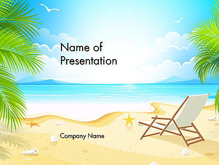 Sunny Beach Vacation PowerPoint Template