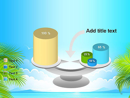 Sunny Beach Vacation PowerPoint Template Slide 10