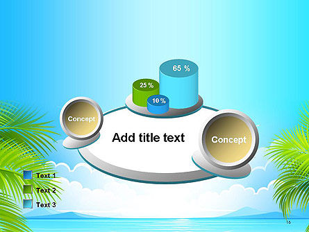 Sunny Beach Vacation PowerPoint Template Slide 16