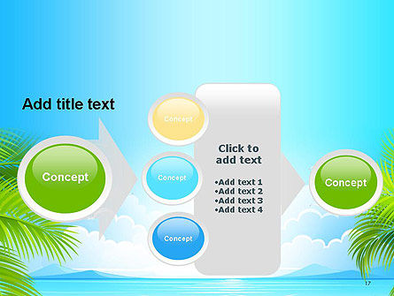 Sunny Beach Vacation PowerPoint Template Slide 17