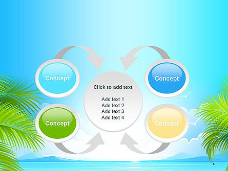 Sunny Beach Vacation PowerPoint Template Slide 6