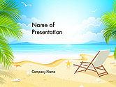 Careers/Industry: Sunny Beach Vacation PowerPoint Template #14168