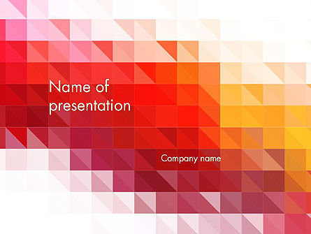 Abstract/Textures: Heat Kaart Abstract PowerPoint Template #14169