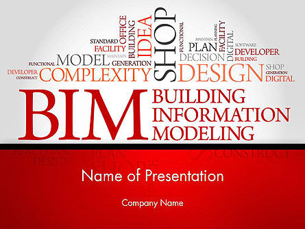 Careers/Industry: BIM Word Cloud PowerPoint Template #14170
