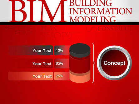 BIM Word Cloud PowerPoint Template Slide 11