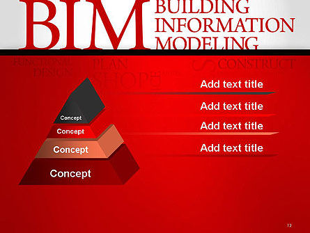 BIM Word Cloud PowerPoint Template Slide 12