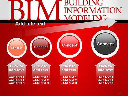 BIM Word Cloud PowerPoint Template Slide 13