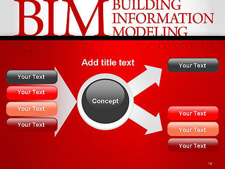 BIM Word Cloud PowerPoint Template Slide 14