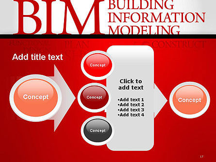 BIM Word Cloud PowerPoint Template Slide 17