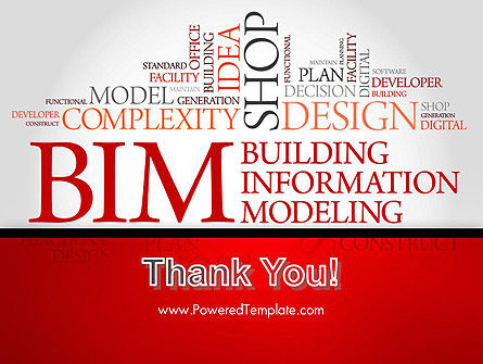 BIM Word Cloud PowerPoint Template Slide 20
