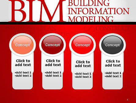 BIM Word Cloud PowerPoint Template Slide 5