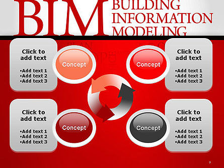 BIM Word Cloud PowerPoint Template Slide 9