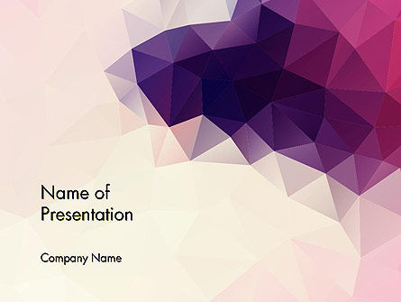 Abstract Triangle Polygonal Powerpoint Template, Backgrounds