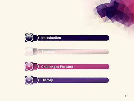 Abstract Triangle Polygonal PowerPoint Template Slide 3