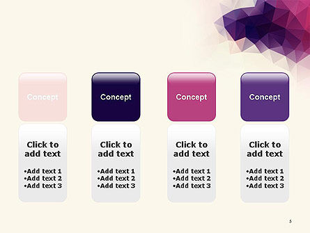 Abstract Triangle Polygonal PowerPoint Template Slide 5