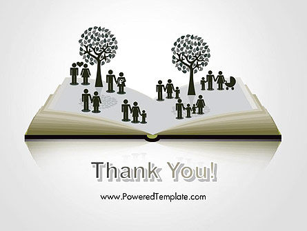 Clipart of Tree and People on Opened Book PowerPoint Template Slide 20