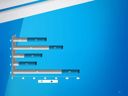 Light Blue Abstract PowerPoint Template Slide 11