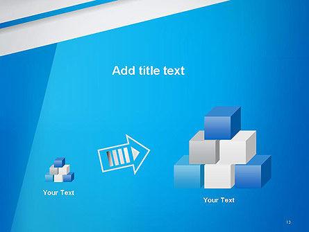 Light Blue Abstract PowerPoint Template Slide 13