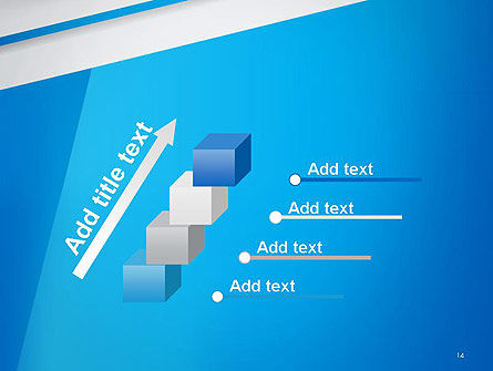 Light Blue Abstract PowerPoint Template Slide 14