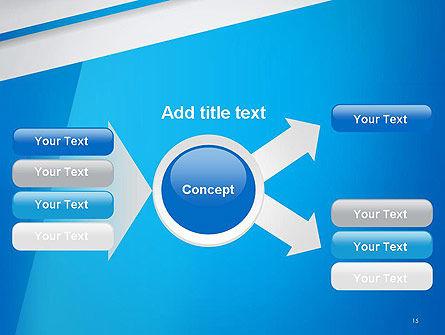 Light Blue Abstract PowerPoint Template Slide 15