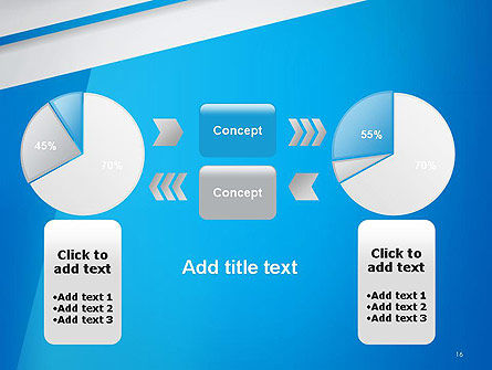 Light Blue Abstract PowerPoint Template Slide 16