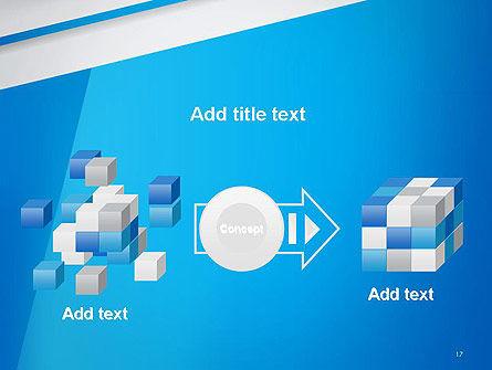 Light Blue Abstract PowerPoint Template Slide 17