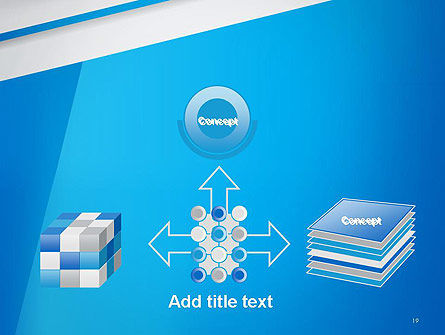 Light Blue Abstract PowerPoint Template Slide 19