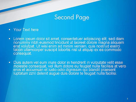 Light Blue Abstract PowerPoint Template Slide 2