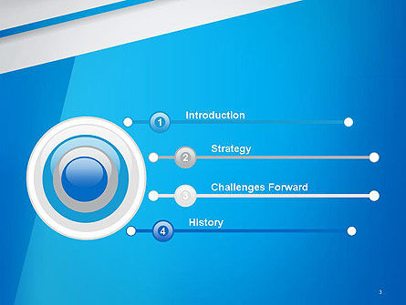 Light Blue Abstract PowerPoint Template Slide 3