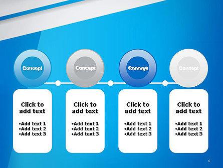 Light Blue Abstract PowerPoint Template Slide 5