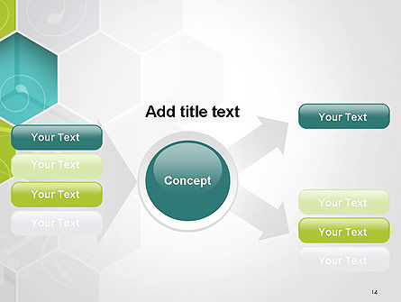 Hexagons with Floral Background PowerPoint Template Slide 14