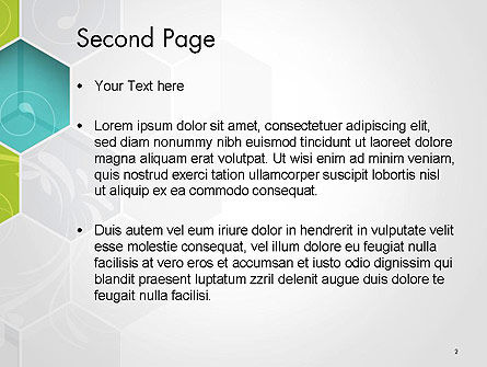 Hexagons with Floral Background PowerPoint Template Slide 2