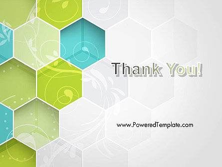 Hexagons with Floral Background PowerPoint Template Slide 20