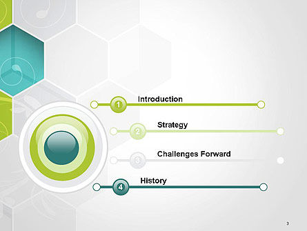 Hexagons with Floral Background PowerPoint Template Slide 3