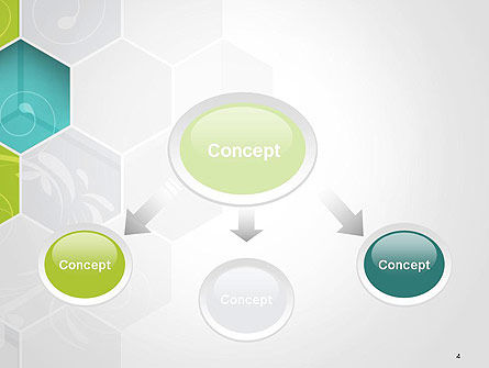 Hexagons with Floral Background PowerPoint Template Slide 4