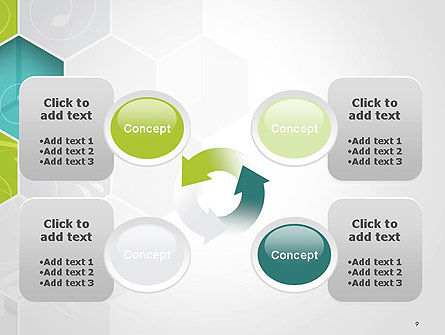 Hexagons with Floral Background PowerPoint Template Slide 9