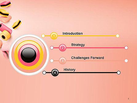 Sweet Candies PowerPoint Template, Slide 3, 14176, Food & Beverage — PoweredTemplate.com