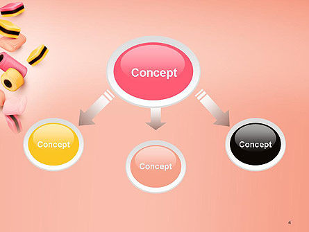 Sweet Candies PowerPoint Template, Slide 4, 14176, Food & Beverage — PoweredTemplate.com