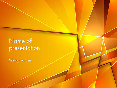Gold Geometric Abstraction PowerPoint Template