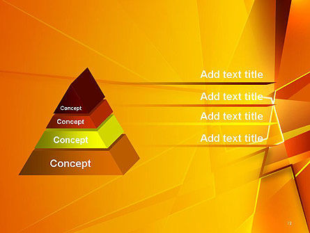 Gold Geometric Abstraction PowerPoint Template Slide 12