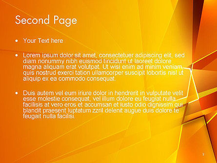 Gold Geometric Abstraction PowerPoint Template Slide 2